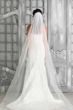 "#87014 - One Tier 90"" Pencil Edge Veil - Veils - Wedding Accessories - Simply Bridal"