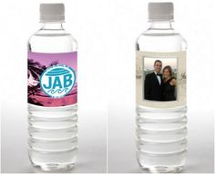 4 Ideas for To-Go Party Treats (Mitzvah & Wedding) - Personalized Water Bottle Labels from Tailor Made Water - mazelmoments.com