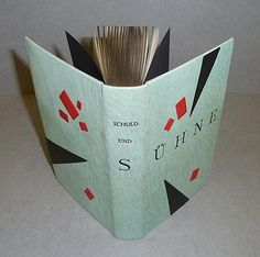 Shuld und Sühne, Germany. Full leather binding by Silas Schmidt with leather onlays, German headbands and graphite edge.