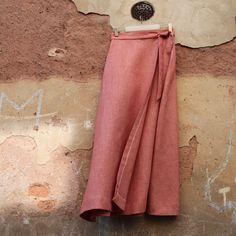 linen beautiful retro nice fabric wrap binding long maxi skirt