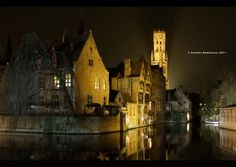 Belfort, a medieval bell tower in the historical centre of Bruges, Belgium / photography by Andrea Barsacchi Monaco, Portugal, Flanders Belgium, France, Bruges, Planet Earth, Dom, Places Ive Been, Places To Visit