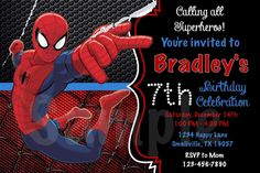 14 Best Spiderman Birthday Invitations Images