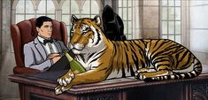 Agent Sterling Archer in Spring's Finest Clothing - Archer Style Archer Show, Archer Fx, Archer Funny, Archer Quotes, Character Concept, Concept Art, Sterling Archer, Best Ads, Adult Cartoons