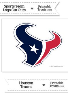Large Houston Texans Logo Cut Out from PrintableTreats.com