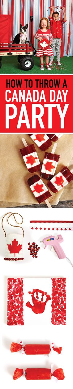 party ideas: Recipes, games and activities Calling all Canucks! Celebrate Canada Day with a backyard party.Calling all Canucks! Celebrate Canada Day with a backyard party. Canada Day 150, Canada Day Party, Happy Canada Day, Favorite Holiday, Holiday Fun, Canadian Party, Happy Birthday Canada, Canada Day Crafts, Canada Holiday