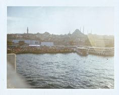 Photos from our Polaroid Land Camera Istanbul, Turkey from the Bosphorus   Settle Nowhere http://settlenowhere.tumblr.com