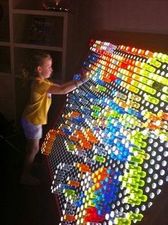 DIY full size Lite Brite! How cool would this be?! Do we think we could find someone to build this for us?:
