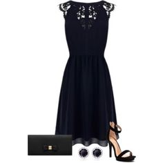 Warehouse Lace Back Soft Dress, Midnight Warehouse