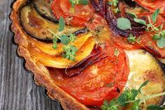 Grønnsakspai med ostesaus