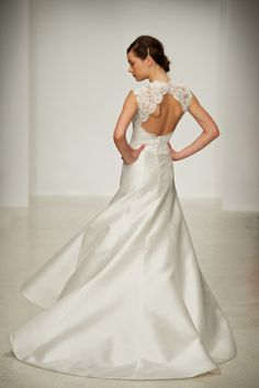 Amsale wedding dress - 'taylor' - love this dress, particularly the cut-out back and buttons on the lace...just gorgeous