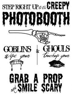 Free Halloween Printable Photobooth Sign