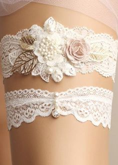 Vintage wedding - lace garter. Need we say more ;)