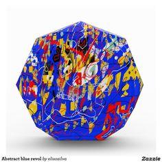 Abstract blue revol