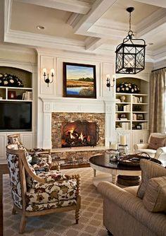 Carmel Country Club Weekender - Traditional - Living Room - Charlotte - Gerrard Builders