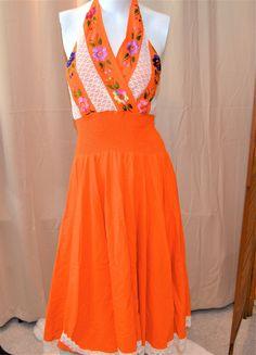 Halter Dress Summer, Summer Dresses, Boho, Vintage, Summer Sundresses, Bohemian, Vintage Comics, Summer Clothing, Summertime Outfits