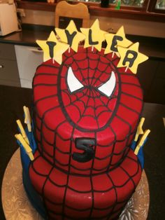 spiderman cake cakes Pinterest Cake Superhero cake and