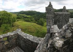 Carnasserie Castle (also spelled Carnassarie) is a ruined 16th-century tower house, noted for its unusual plan and renaissance detailing. It is located around 2 km to the north of Kilmartin, in Argyll and Bute, western Scotland,