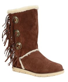 Tan Mammoth Tassel Boot - Women