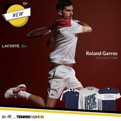 Lacoste Roland Garros, Novak Djokovic #lacoste #rolandgarros #novak #djokovic #novakdjokovic #tennisfashion #tennis