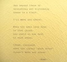 RUMI Poem Quote Typed with Vintage Typewriter by PoetryBoutique, $12.00