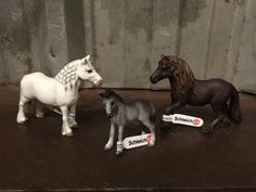 schleich family horse   Schleich Toy Fell Pony Set Stallion Mare Foal Family NWT Stud Horse ...