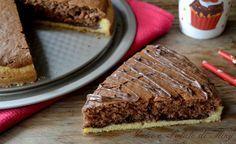 Torta farcita cioccolato e nutella, una torta con due preparazioni, entrambe molto semplici che racchiudono un cuore di nutella.