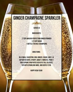 Ginger Champagne Sparkler. Save 20% off Wakaya Perfection Organic Ginger with the promo code: OPRAH