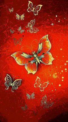 By Artist Unknown. Butterfly Clip Art, Butterfly Pictures, Butterfly Flowers, Bling Wallpaper, Wallpaper Backgrounds, Colorful Backgrounds, Butterfly Background, Butterfly Wallpaper, Paper Butterflies