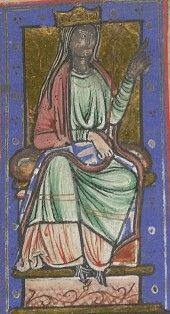 Ealhswith, Queen consort of Wessex. Tenure: 23 April 871 – 26 October 899 Ealhswith, Queen consort of Wessex and daughter of a Mercian nobleman was the paternal grandmother of Edith I, Queen of England.  Notice that her right hand has been over-painted white.
