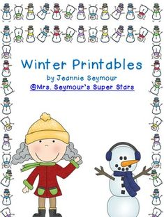 Winter Printables- free- I like the rhyming mittens, might be more good worksheets in packet
