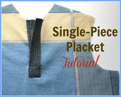 Single-Placket (Tutorial) - Of the several tutorials I have seen, this one seems a bit more clear. To adjust it to make a concealed placket, add the extra vertical space (slightly wider than the others) and use an accordion-style fold just on the right side (the left side where the buttons will attach will still be just the one layer).