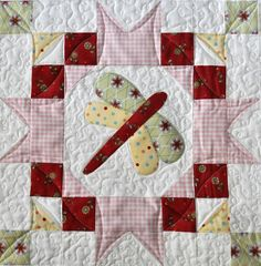 This is the FIRST of 6 blocks in the Sew Sweet Simplicity Block of the Month. This block includes options for just piecing, applique or embroidery (patterns included.)