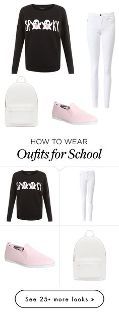 """Halloween school outfit"" by delaneyrichins on Polyvore featuring Flossy and PB 0110"