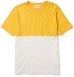 YMCTwo-Tone Cotton T-Shirt