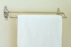 This solid brass, nickel plated Stratford #double #towel #rail is the perfect way to store towels neatly