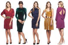vestidos cortos para bodas de otoño e invierno. Alquilalos en www.lamasmona.com