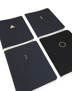 The Minimalist (Black cover notebooks with gold foil. Also comes in Navy Blue and Chocolate).