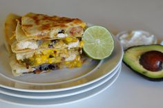 Loaded Fajita Quesadillas || HeathersDish.com