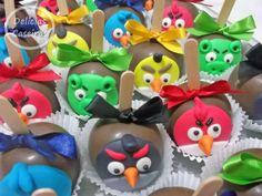 Maçã decorada Angry Bird