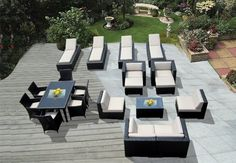 Genuine Amazing Ohana Outdoor Sectional Sofa, Dining and Chaise Lounge Wicker Patio Furniture Set (20 PC set) with Free Patio Cover by Ohana Collection. Save 53 Off!. $4699.00. Factory Direct Price (MSRP $9999) Matching Black Wicker set. Total 20 pc set.. Curbside delivery with signature required. Three Free Patio Covers ($567 value ). Sofa 9 pc set includes 2 Corner Sofas + 2 Middle Sofas + 2 Club Chairs + 2 Ottomans + 1 Coffee Table  with BEIGE CUSHION. All Weather Wicker Amaz...