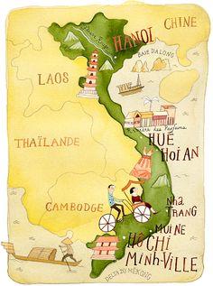 Vietnam Map – ELLE QUÉBEC © Janice Nadeau