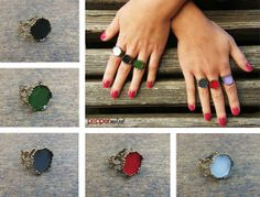 Bronze Vintage Style Rings Choose you colour! https://www.facebook.com/peppermint.jewels