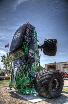Gravedigger some day my son and I will attend a show together and see him. #MonsterTrucks