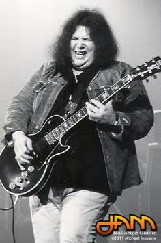 """Leslie West - talented Long Island guitarist who led hard rock combo, Mountain, with bassist Felix Pappalardi, a producer for his earlier work. The band is remembered for """"Mississippi Queen."""" He then teamed up with Jack Bruce and Mountain's drummer, Corky Laing in short-lived West, Bruce & Laing. He's mostly been a solo act since the mid-'70s. Recorder Music, Music Guitar, My Music, Guitar Art, Rock Roll, The Heavy Band, Leslie West, Classic Rock And Roll, Progressive Rock"""