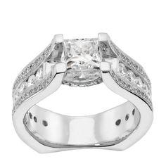 14K Yellow Gold 0.99 ct Princess Cut Lab Created Engagement Ring $1885