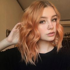 Baddie Hairstyles and women hairstyles long Dye My Hair, New Hair, Blorange Hair, Cheveux Oranges, Strawberry Blonde Hair, Blonde Orange Hair, Pastel Orange Hair, Peach Hair, Ginger Hair