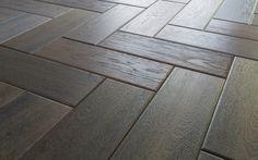 Detalle de suelo de madera espigado