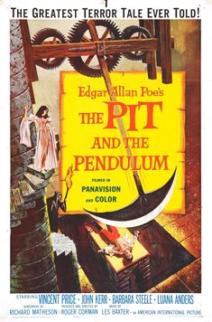 Cool poster - The pit and the pendulum (Roger Corman)