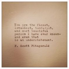 F. Scott Fitzgerald  Typewriter Quote on Cardstock von farmnflea, $10,00