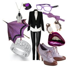 Penguin Chick by egh512 on Polyvore featuring Ralph Lauren, Helmut Lang, Jitrois, Cole Haan, Pippo Perez, Andrew Hamilton Crawford, the penguin, comic, villain and batman